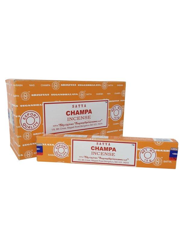 Wierookstokjes Satya Champa per 12