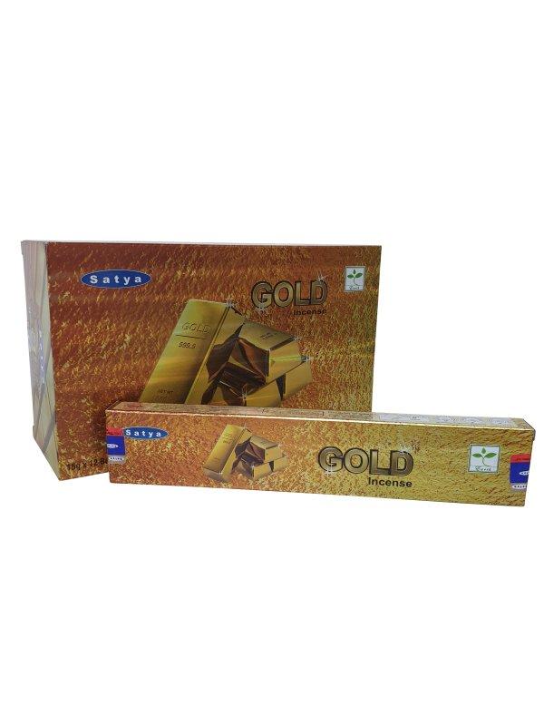 Wierookstokjes Satya Gold per 12
