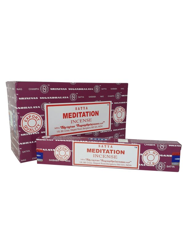 Wierookstokjes Satya Meditation per 12