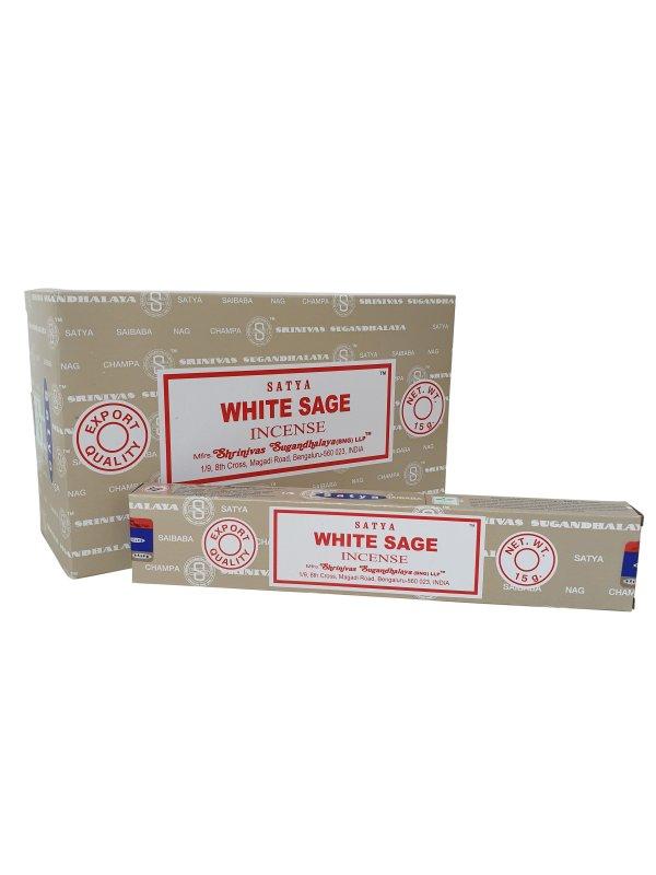 Wierookstokjes Satya White Sage per 12