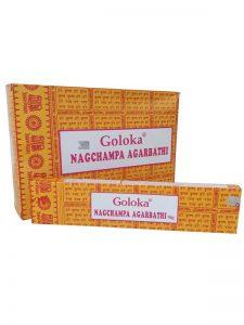 Wierookstokjes Nag Champa Goloka per 12