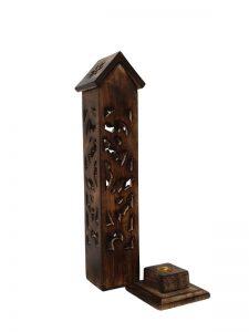 Wierookhouder toren huis detail