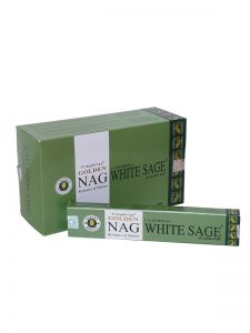 Wierookstokjes Golden Nag White Sage verpakt per 12