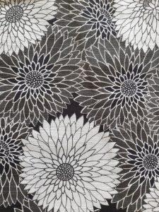 Yukata chrysantum katoen detail