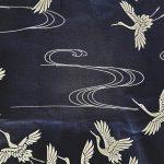 Japanse yukata kraanvogel katoen detail