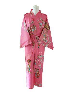 Japanse kimono maiko katoen roze