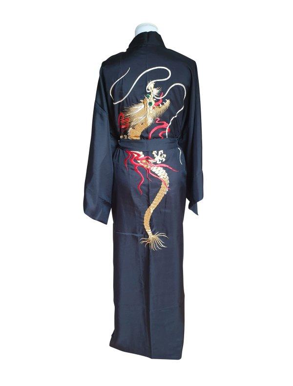 Japanse gevoerde kimono draak achterzijde
