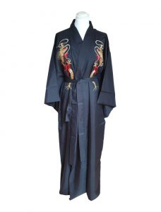 Japanse gevoerde kimono draak voorzijde