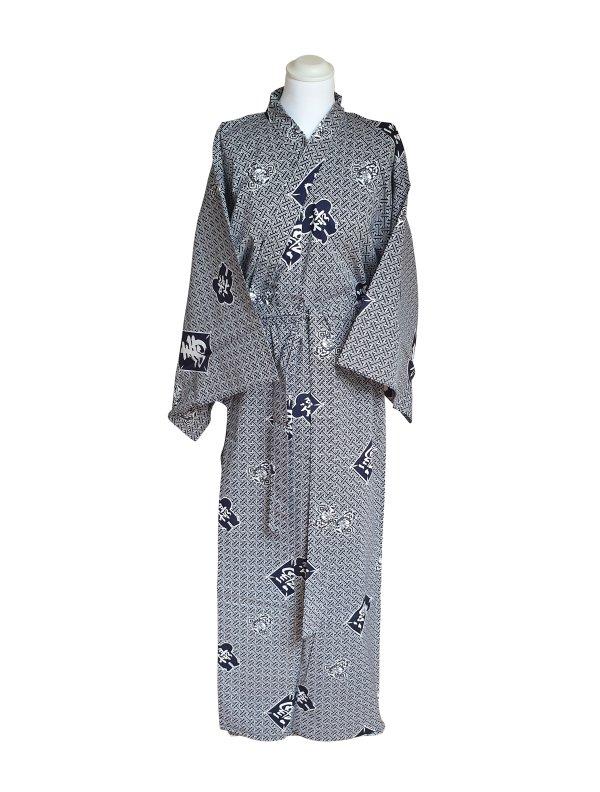 Yukata kite & kotobuki katoen