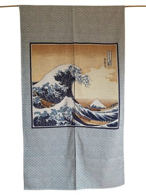 Japans deurgordijn (originele Noren) Hokusai