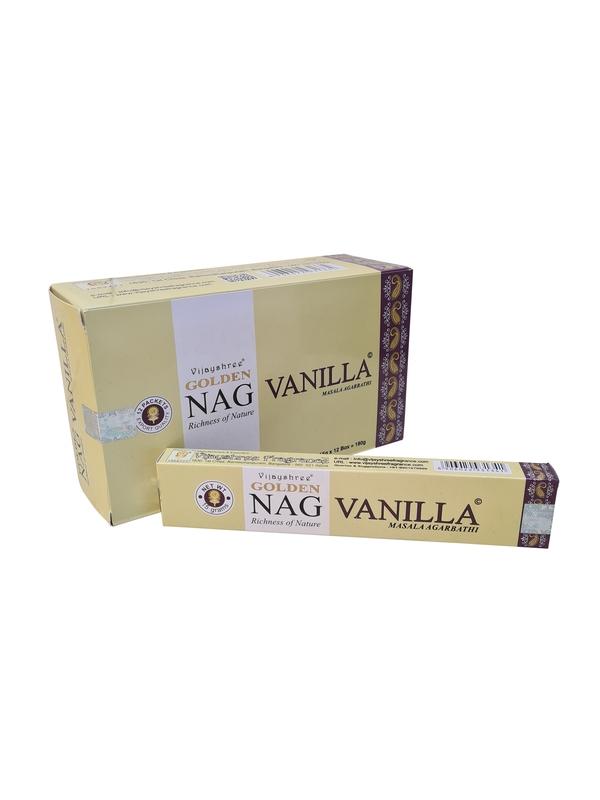 Wierookstokjes Golden Vanilla per 12