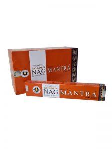 Wierookstokjes Golden Nag Mantra per 12