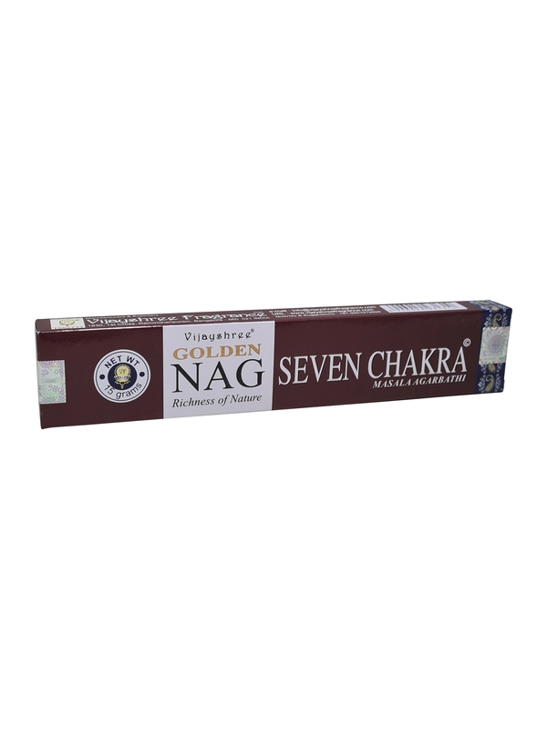 Wierookstokjes Golden Nag 7 Chakra