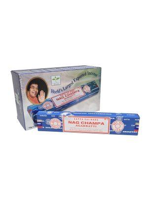 Wierookstokjes Satya Nag Champa Earth 15 gram per 12