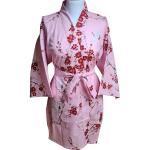 Japanse korte kimono kersen bloesem katoen roze