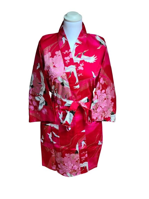 Japanse korte kimono rood