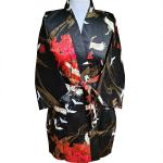 Japanse korte kimono zwart