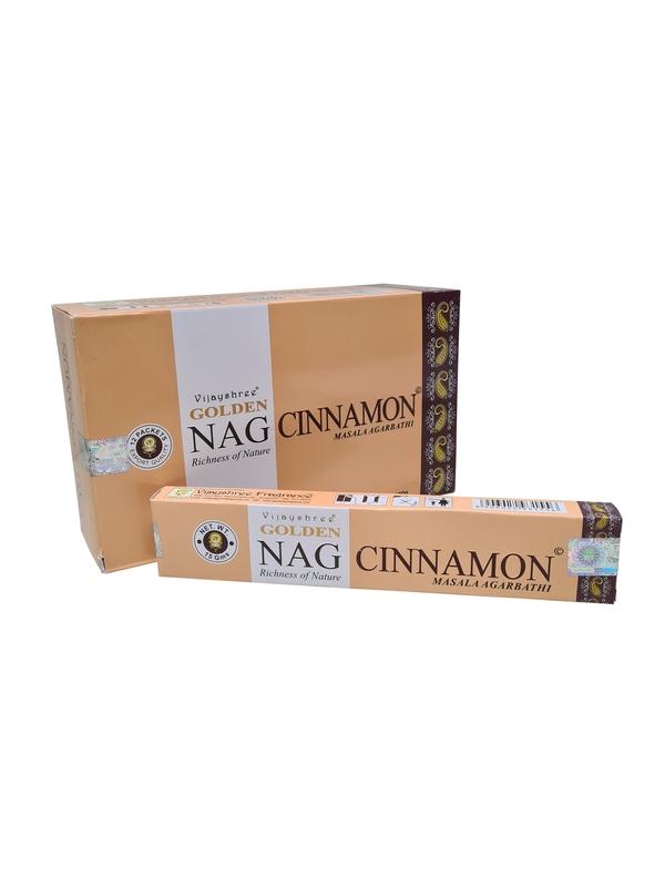 Wierookstokjes Golden Nag Cinnamon (kaneel) per 12