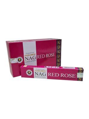 Wierookstokjes Golden Nag Red Rose per 12