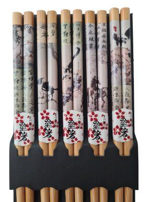 Japanse eetstokjes Dieren detail