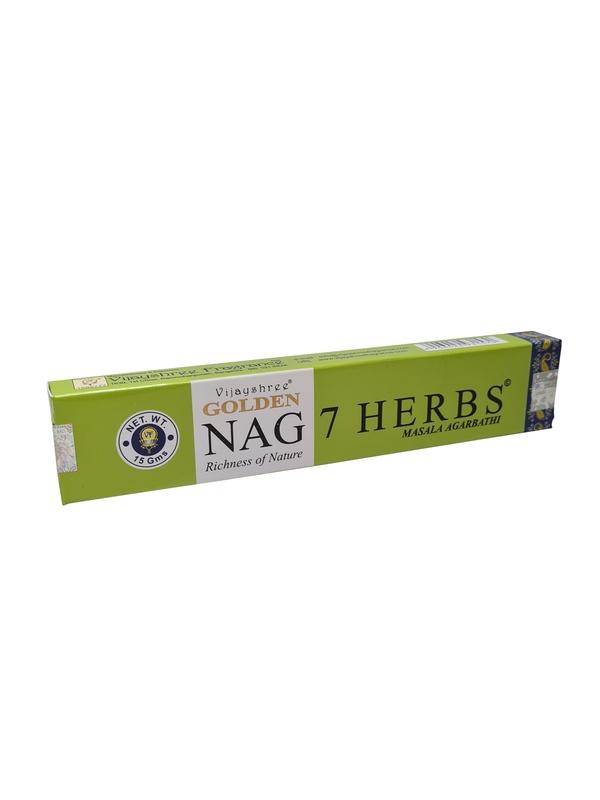 Wierookstokjes Golden Nag 7 Herbs