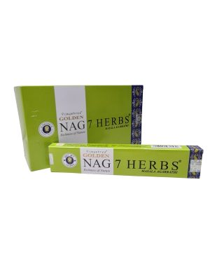 Wierookstokjes Golden Nag 7 Herbs per 12